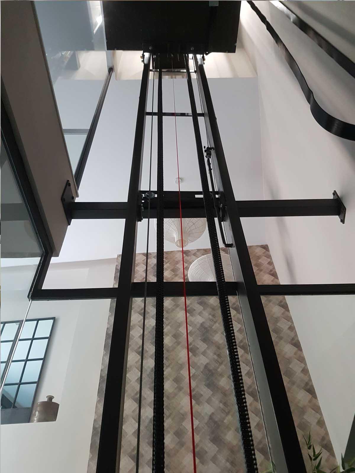 Ascensor cabina panorámica, modelo KENIA